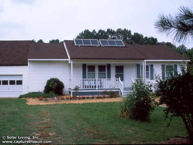 Susan, VA Solar Domestic Hot Water System