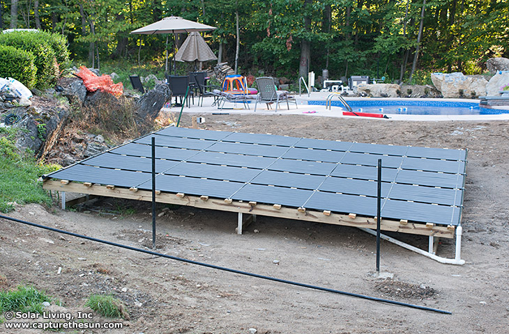 Andover, NJ Solar Pool Heating Ground Rack Solar Pool Heating System