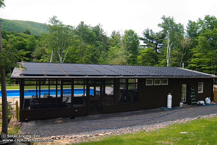 Woodstock, NY Solar Pool Heating System